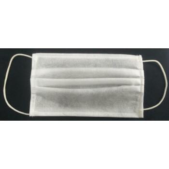 Маска медицинская одноразовая 3 слойная из заводского материала спандбонда, цвет белый (34309)