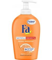 Fa жидкое мыло для рук, Чистота и Свежесть, Аромат апельсина, 250мл (97386)