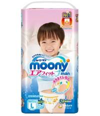 Moony трусики для мальчиков #4 L, 9-14кг, 44шт (84330)