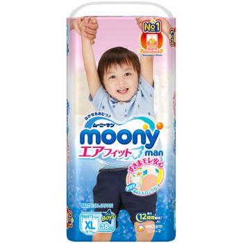 Moony трусики для мальчиков #5 XL, 12-17кг, 38шт (84675)