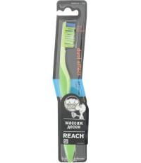 Reach Dual effect зубная щетка, массаж дёсен, средняя щетина 1шт (83550)