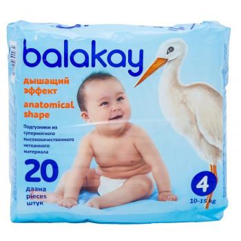 Balakay подгузники #4, 10-15кг, 20шт (90074)