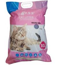 MCat силикагелевый гигиенический наполнитель для кошачьих туалетов, без запаха, 10л (60059)