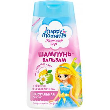 Happy moments маленькая фея детский шампунь-бальзам, эффект без одуванчика, от 1 года, 240мл (95012)