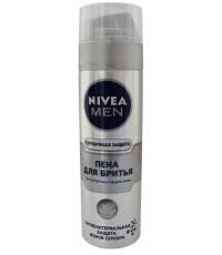 Nivea Men пена для бритья, Серебряная защита, 200мл (40181)