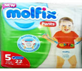 Molfix pants трусики #5 junior, 11-18кг, 22шт (43305)