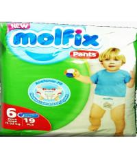 Molfix pants трусики #6 extra large, 15-22кг, 19шт (43312)