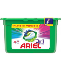 Ariel pods капсулы для стирки 3в1, Color, для цветного белья, 13шт, 350гр (62634)