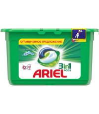 Ariel pods капсулы для стирки 3в1, Горный родник, для белого белья, 13шт, 350гр (62672)