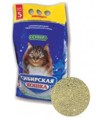Сибирская кошка наполнитель для кошачьих туалетов, комкующийся, 5л (30176)