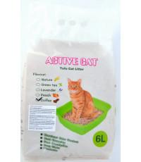 Active Cat наполнитель тофу для кошачьих туалетов, комкующийся, смывается в унитаз, с запахом кофе 6л (25840)