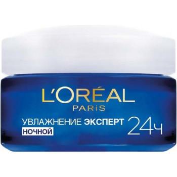 L'Oreal увлажняющий крем для лица, Увлажнение Эксперт, ночной, все типы кожи, 50мл (80592)