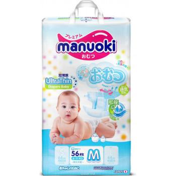 Manuoki ультратонкие подгузники M, #3, 6-11кг, 56шт (09053)