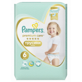 Pampers Premium сare трусики #6, 15+кг, 18шт (90543)