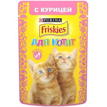 Friskies корм пауч для котят, с курицей, 85гр (90198)