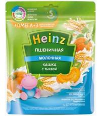 Heinz пшеничная каша молочная, с тыквой + омега3, с 5 месяцев, 200гр (05099)