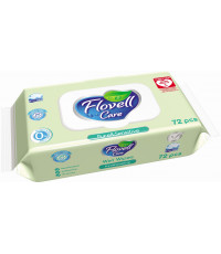 Flovell влажные салфетки Pure & Sensitive, 72шт (90013)