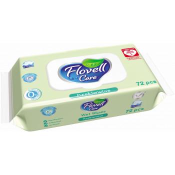 Flovell Pure & Sensitive влажные салфетки для детей, 72шт (90013)