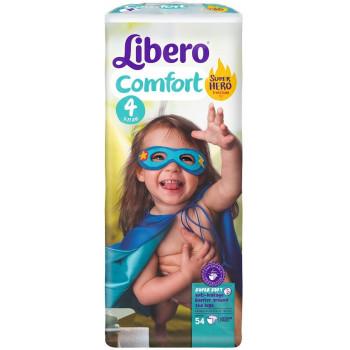 Libero comfort подгузники  #4, 7-11 кг, 54шт (31347)