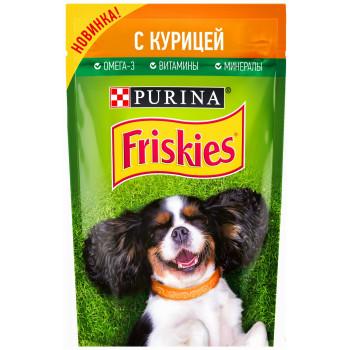 Friskies корм пауч  для взрослых собак, с курицей, 85гр (31709)