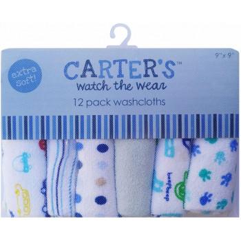 Carters носовые платочки для детей, из хлопка, 22*22см, 12шт (35177)