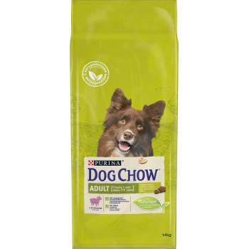 Dog Chow Adult сухой корм для взрослых собак старше 1 года, с ягненком, 14кг (44825+)