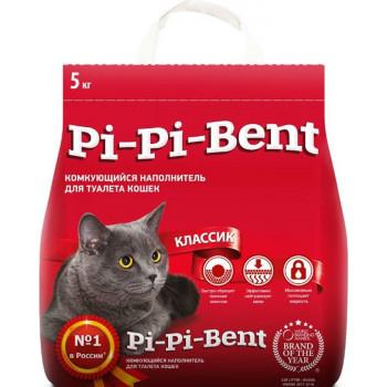 Pi-Pi-Bent классик наполнитель для кошачьих туалетов, комкующийся, 5кг (00123)