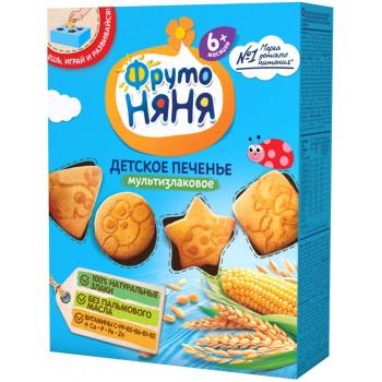Фруто Няня детское печенье, мультизлаковое, с 6 месяцев, 150гр (08776)