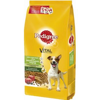 Pedigree сухой корм для взрослых собак маленьких пород, с говядиной, 13кг (02596+)
