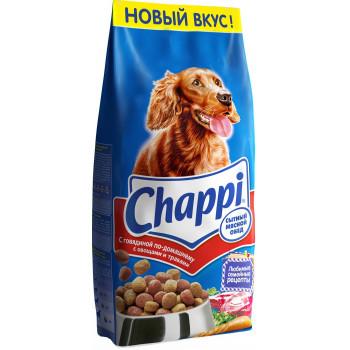 Chappi сухой корм для взрослых собак всех пород, с говядиной, 15кг (80829+)