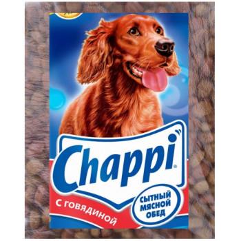 Chappi сухой корм для взрослых собак всех пород, с говядиной, фасованный, 500гр (80829-)