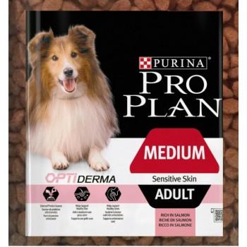 Pro Plan Adult сухой корм для взрослых собак с чувствительной кожей, с лососем, фасованный, 500гр (20464-)
