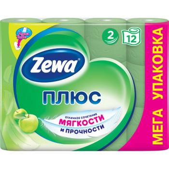 Zewa туалетная бумага Яблоко, 12 рулонов, 2 слоя, 184 отрывов в рулоне (06331)