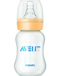 Philips AVENT Essential пластиковая бутылочка, со стандартным горлышком, 1 капля - медленный поток, 0+ месяцев, 120мл, 1шт (62396)