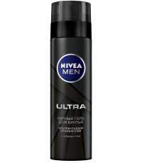 Nivea Men Ultra черный гель для бритья, с активным углём, 200мл (95280)