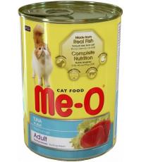 Me-O корм для взрослых кошек, тунец в желе, 400гр (02111)
