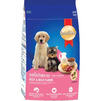 SmartHeart сухой корм для щенков, говядина с молоком, 500гр (02979)