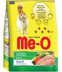 Me-O сухой корм для взрослых кошек, курица и овощи, 450гр (03198)