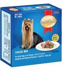 SmartHeart корм для взрослых собак всех пород, паштет в ламистере с курицей, 100гр (12493)