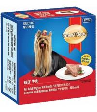 SmartHeart корм для взрослых собак всех пород, паштет в ламистере с говядиной, 100гр (12479)