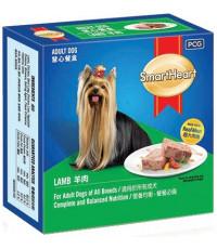 SmartHeart корм для взрослых собак всех пород, паштет в ламистере с ягненком, 100гр (12455)