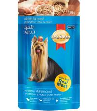 SmartHeart корм пауч для взрослых собак, курица в соусе, 130гр (33456)
