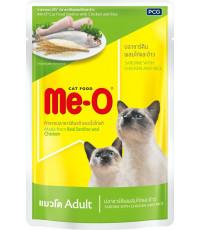 Me-O корм пауч для взрослых кошек, сардин, курица и рис, 80гр (82804)