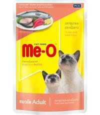 Me-O корм пауч для взрослых кошек, тунец и белая рыба, 80гр (86802)