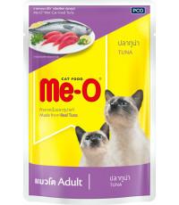 Me-O корм пауч для взрослых кошек, тунец, 80гр (92803)