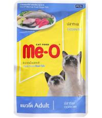 Me-O корм пауч для взрослых кошек, океаническая рыба, 80гр (61809)