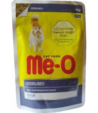 Me-O корм пауч для взрослых стерилизованных кошек, 80гр (19577)