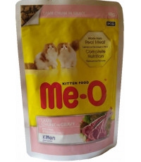 Me-O корм пауч для котят, кусочки ягненка в соусе, 80гр (19560)