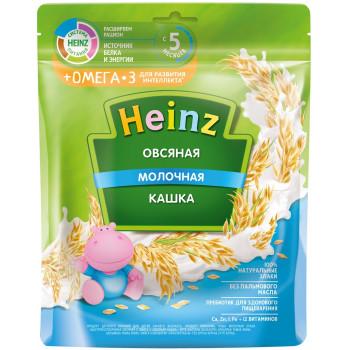 Heinz овсяная каша молочная + омега3, с 5 месяцев, 200гр (05037)