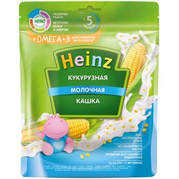 Heinz кукурузная каша молочная + омега3, с 5 месяцев, 200гр (05051)